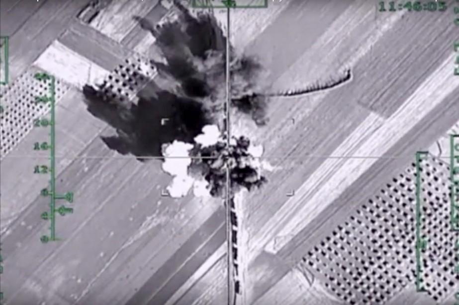 Sur cette photo aérienne diffusée le 5 février... (PHOTO MINISTÈRE RUSSE DE LA DÉFENSE/AP)