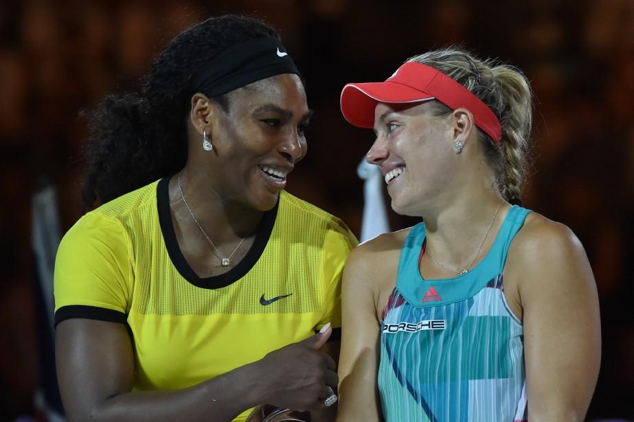 À Melbourne, en début d'année, Serena Williams (à... (PHOTO ARCHIVES REUTERS)