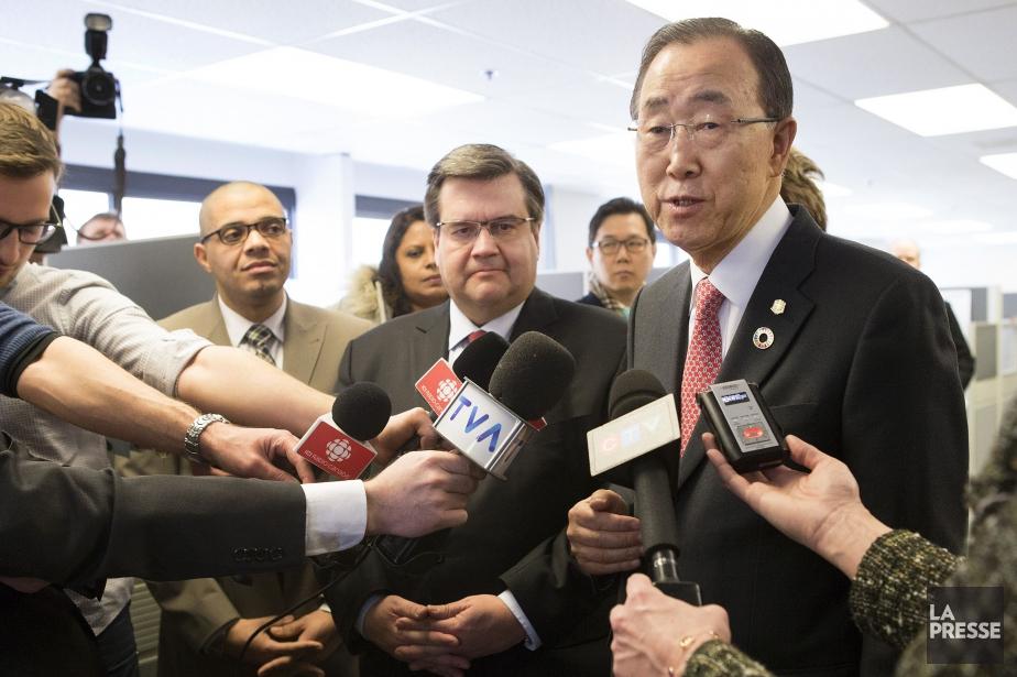 Le secrétaire général des Nations unies, Ban Ki-moon,... (PHOTO ROBERT SKINNER, LA PRESSE)