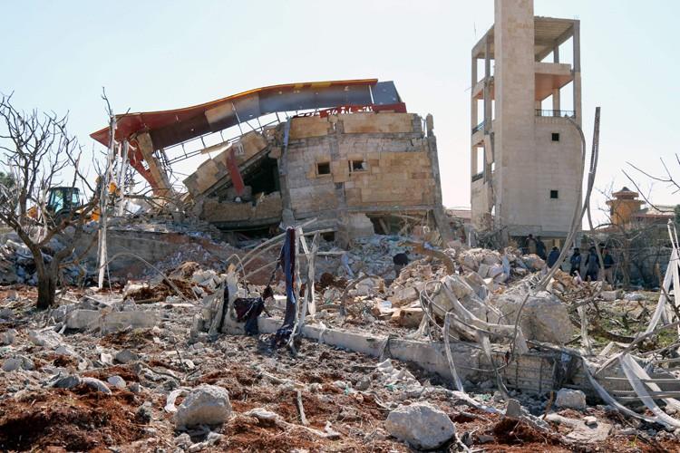 Selon l'UNICEF, quatre hôpitaux ont été frappés. Deux... (PHOTO AFP)