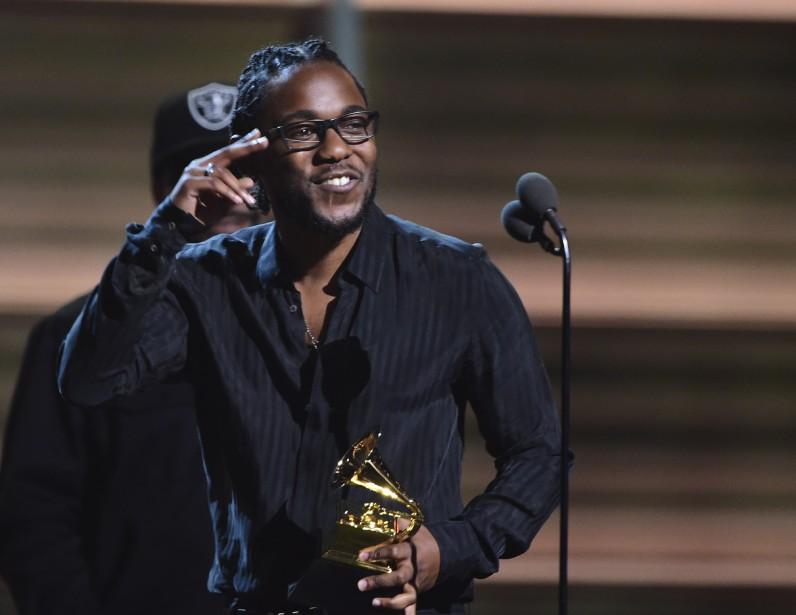 Kendrick Lamar a tout raflé sur son passage lorsqu'il a été question de rap, mais le prix convoité de l'Album de l'année lui a échappé. (AFP, Robyn Beck)