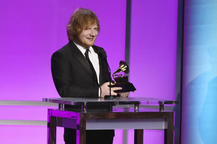 C'est Ed Sheeran qui a signé la Chanson de l'année, avec <i>Thinking Out Loud</i>. L'Anglais a aussi eu droit à une récompense pour la meilleure performance pop solo, avec cette même composition. (AP, Matt Sayles)