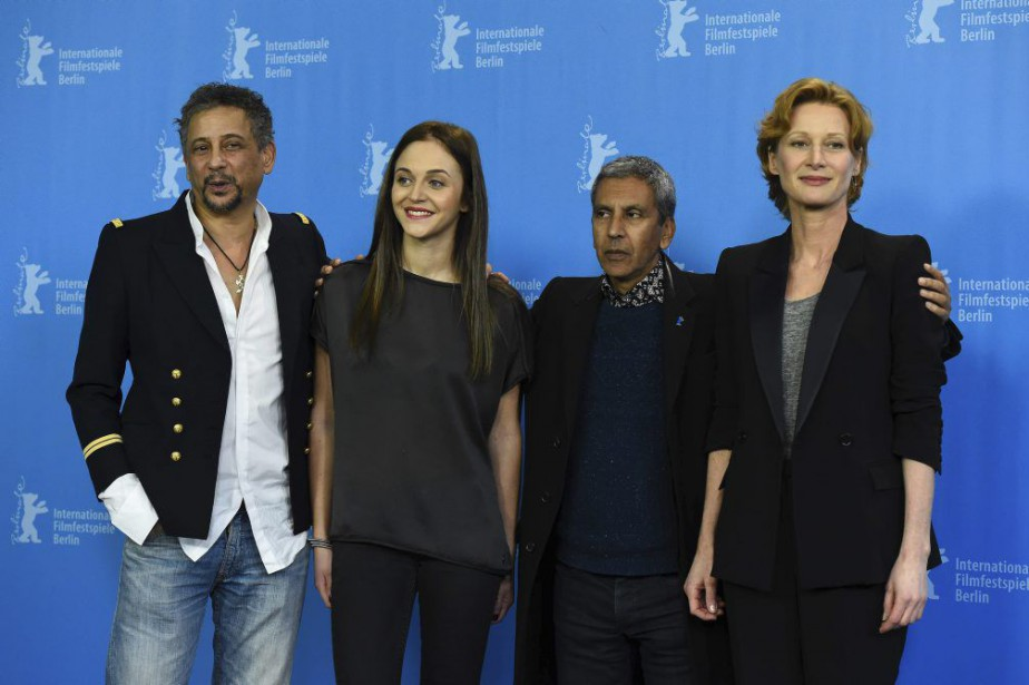 Les acteurs Abel Jafri, Pauline Burlet etAstrid Whettnall... (PHOTO AFP)