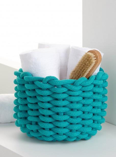 Le panier en corde tressée, 18 $, exclusivité Simons Maison (Photo fournie par Simons)