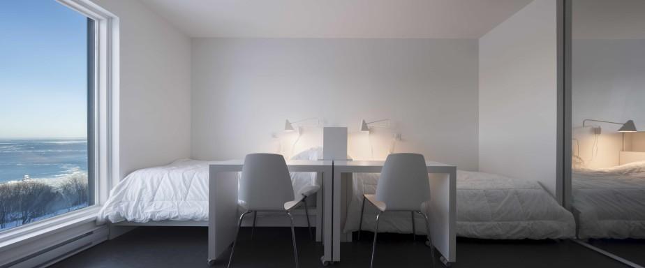 Pour son projet de résidence étudiante au Domaine Forget, Bisson associés, architectes a remporté le prix Auberge, motel et gîte. (Stéphane Groleau)