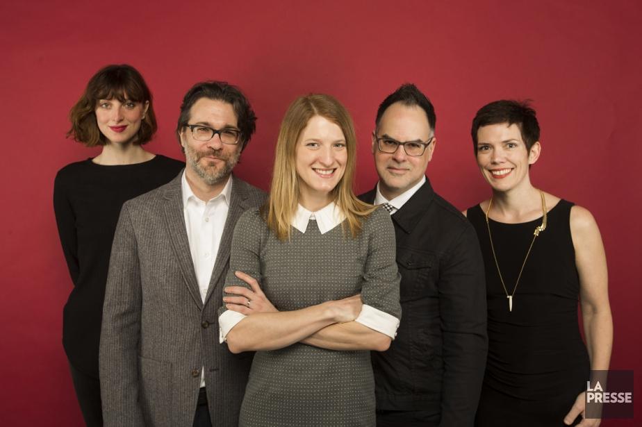 Sarah-Maude Beauchesne, Maxime-Olivier Moutier, Genevieve Janelle, Stéphane Dompierre... (PHOTO IVANOH DEMERS, LA PRESSE)