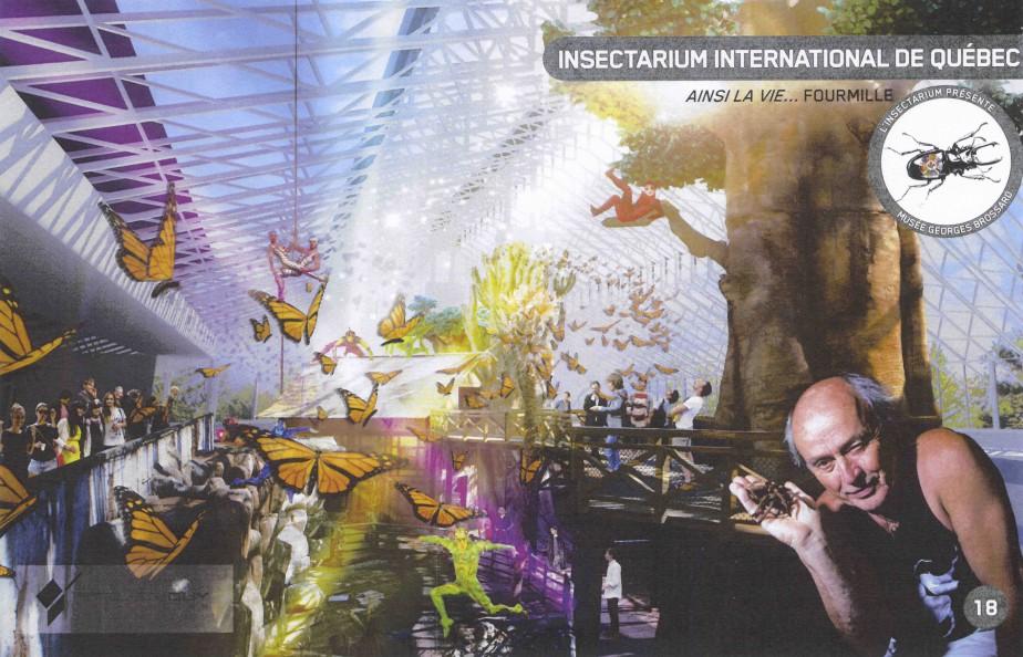 Le projet de parc comportait un insectarium de 10000insectes avec une volière. (-)