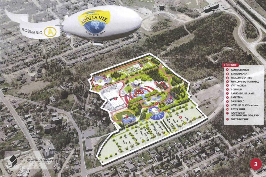La première phase du projet était évaluée à 30 millions $ et consistait à développer les 1,7million de pieds carrés de terrain de l'ancien zoo. (-)