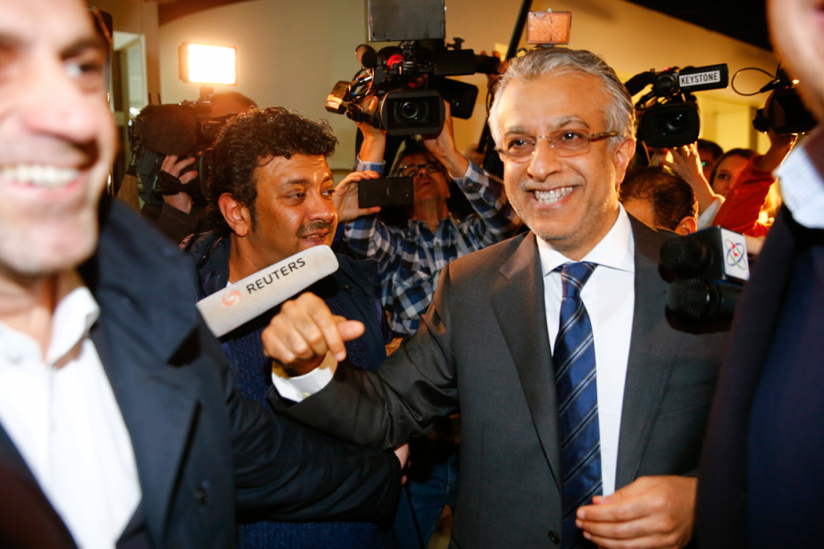 Le Cheikh Salman, patron de la Confédération asiatique,... (Photo Arnd Wiegmann, Reuters)
