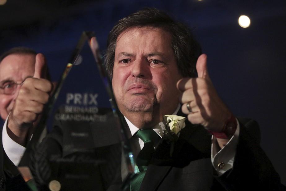 Ému, le député Mauril Bélanger a remercié la communauté franco-ontarienne de son support en recevant le prix Bernard-Grandmaître. (Etienne Ranger, LeDroit)