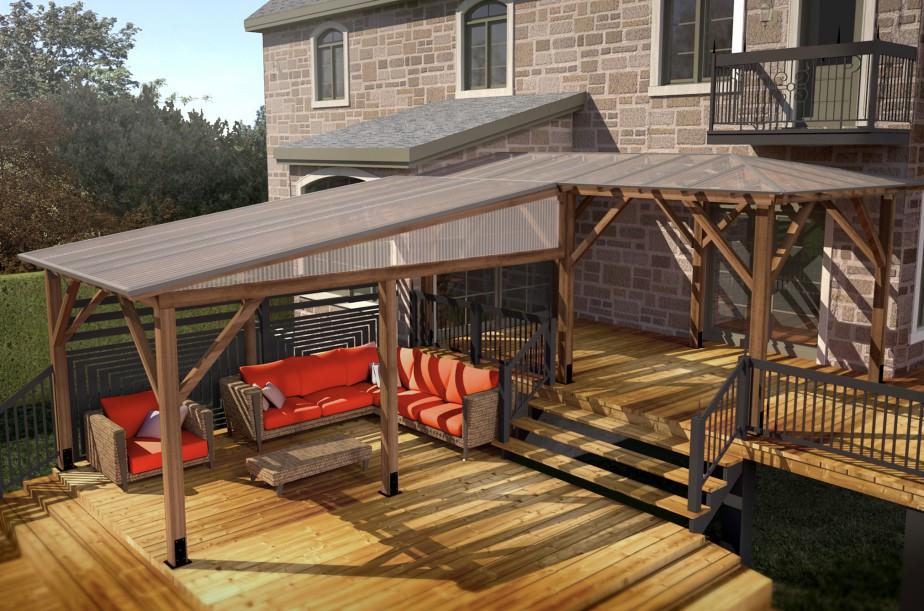 Solto une nouvelle gamme d 39 abris pr t monter sophie for Abri soleil mural toit rigide