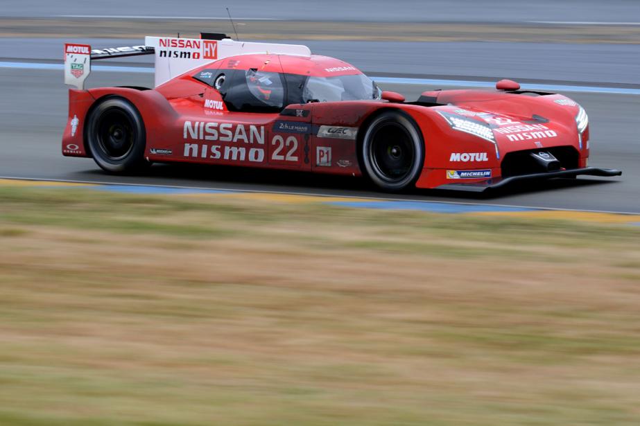 La GT-R LM Nismo de Nissan aux24 heures... (Photo Jean François Monier, archives AFP)