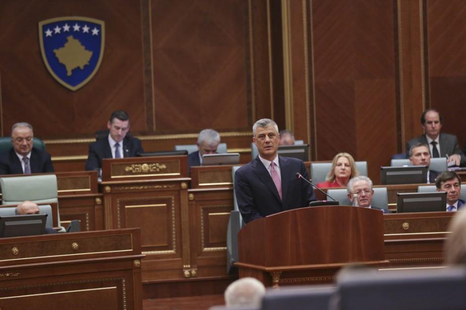 Le président du Kosovo nouvellement élu Hashim Thaci... (Photo Visar Kryeziu, archives AP)