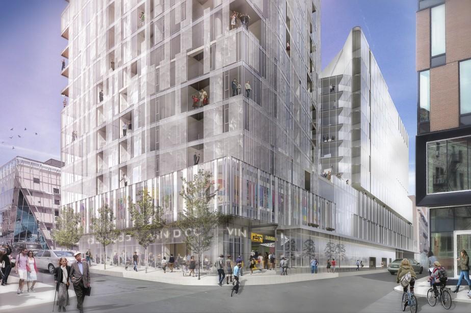 La première phase du projet Carré Saint-Laurent consistera... (Photo fournies par laSociété de développement Angus)