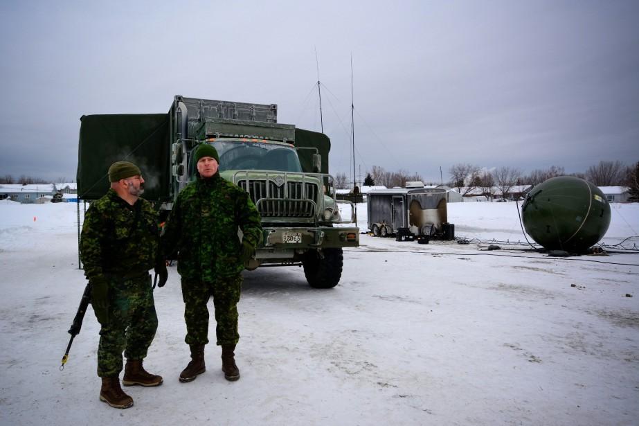 Le poste de commandement de l'exercice militaire d'envergure était installé au Régiment du Saguenay. (Photo courtoisie, Caporal Camila Belley-Cloutier)