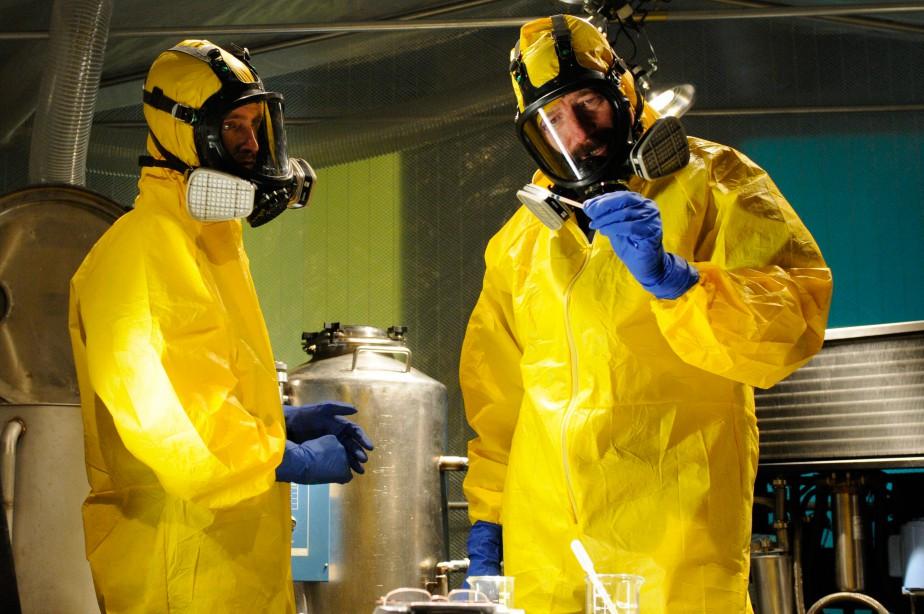 Aaron Paul (Jesse Pinkman) et Bryan Cranston (Walter... (PHOTO URSULA COYOTE, FOURNIE PAR AMS)
