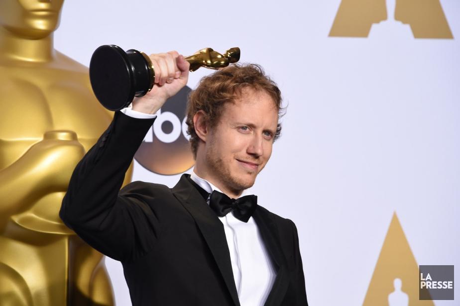 Laszlo Nemes a remporé l'Oscar du meilleur film... (PHOTO AFP)