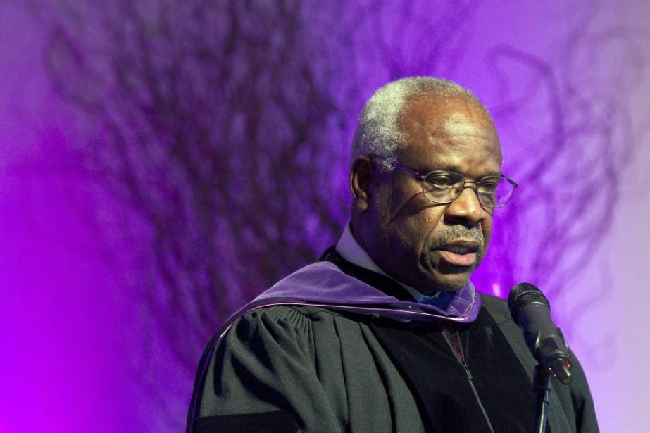 La dernière fois que le juge Clarence Thomasavait... (PHOTO MICHAEL DWYER, ARCHIVES AP)