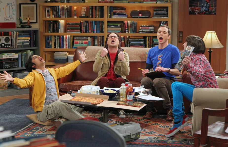 Kunal Nayyar, Johnny Galecki, Jim Parsons et Simon... (Photo Monty Brinton, fournie par CBS)