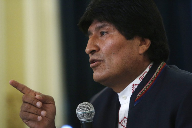 Evo Morales... (PHOTO AP)