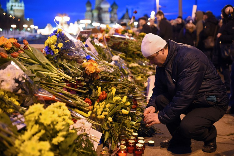 L'assassinat de Boris Nemtsov, codirigeant du mouvement d'opposition... (PHOTO AFP)