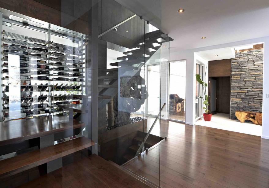L'escalier croise le cellier. (Le Soleil, Patrice Laroche)