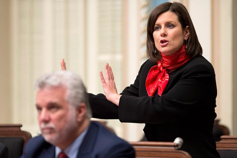 Stéphanie Vallée et Philippe Couillard, à l'Assemblée nationale... (Photo Jacques Boissinot, PC)