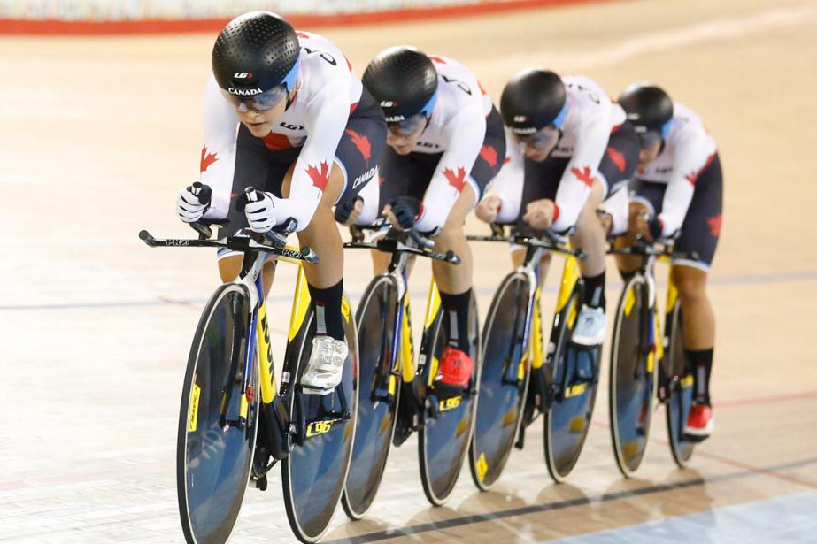 L'équipe canadienne féminine de cyclisme sur piste a... (Photo archives PC)