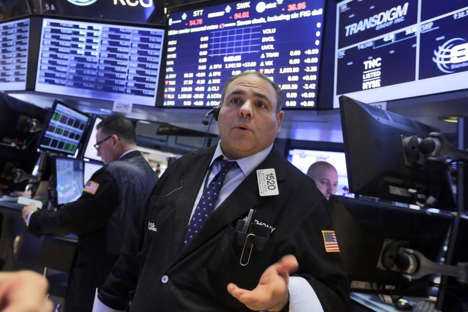 L'indice vedette Dow Jones Industrial Average a avancé... (PHOTO RICHARD DREW, ASSOCIATED PRESS)