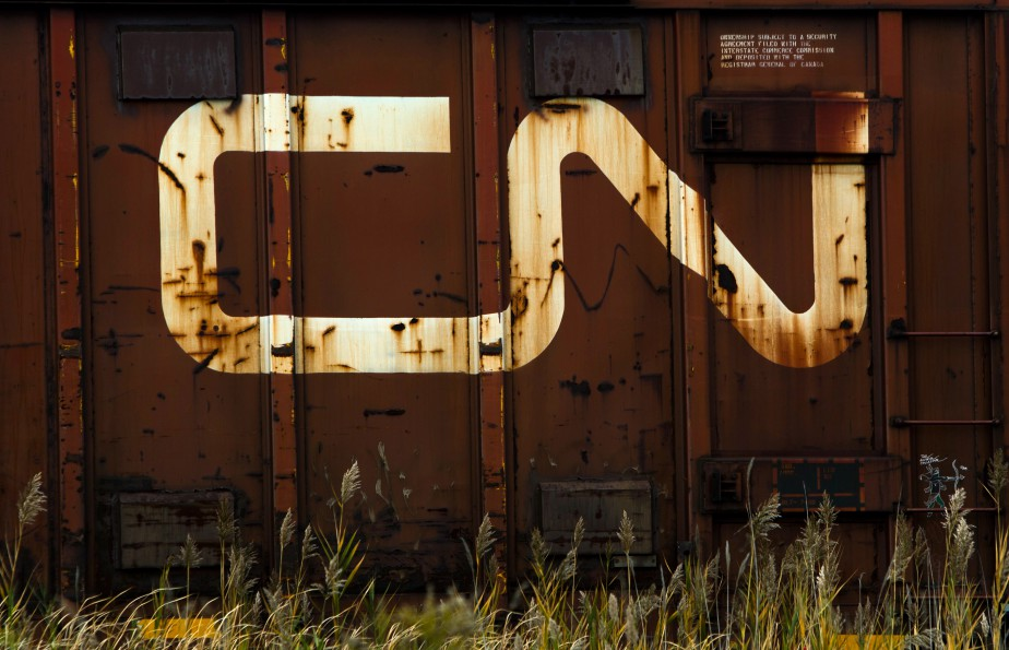 Canadian National Railway Co. (CN) signage is displayed... (Photo Bloomberg)