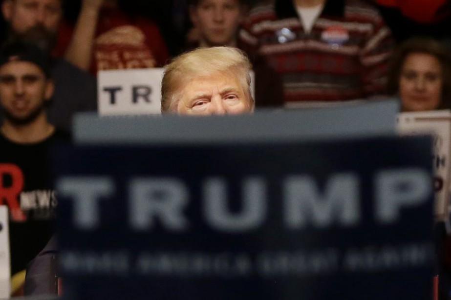 Donald Trump lors d'un rassemblement à Warren, dans... (Photo Carlos Osorio, AP)