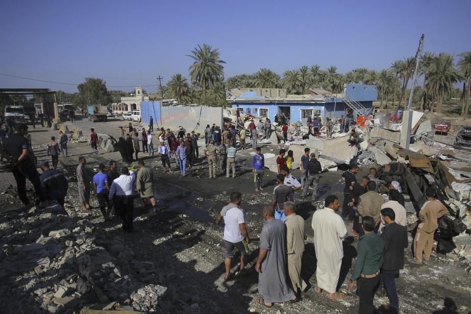 L'attentat-suicide a été menée contre un <em>checkpoint</em> à l'entrée nord de Hilla. (AP, Anmar Khalil)