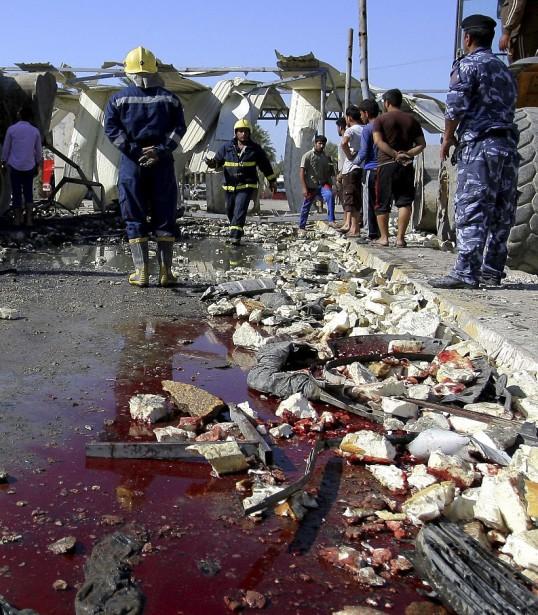L'attaque a fait au moins 47 morts et 72 blessés. (AP, Anmar Khalil)