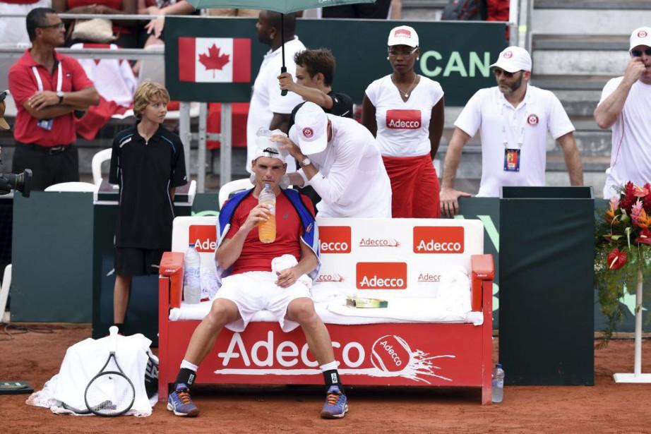Frank Dancevic a été contraint à l'abandon lors... (PHOTO MIGUEL MEDINA, AFP)