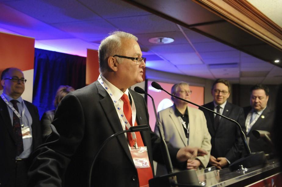 Le candidat à l'investiture, Serge Bergeron, a affirmé qu'il appuierait la gagnante, Francyne T. Gobeil. (Photo Le Quotidien, Mariane L. St-Gelais)