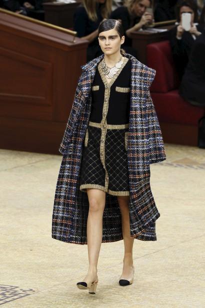 Emma Génierlors du défilé de Chanel à Paris, en mars 2015, son plus beaumoment encarrière jusqu'à maintenant. (AFP,  Patrick Kovarik)