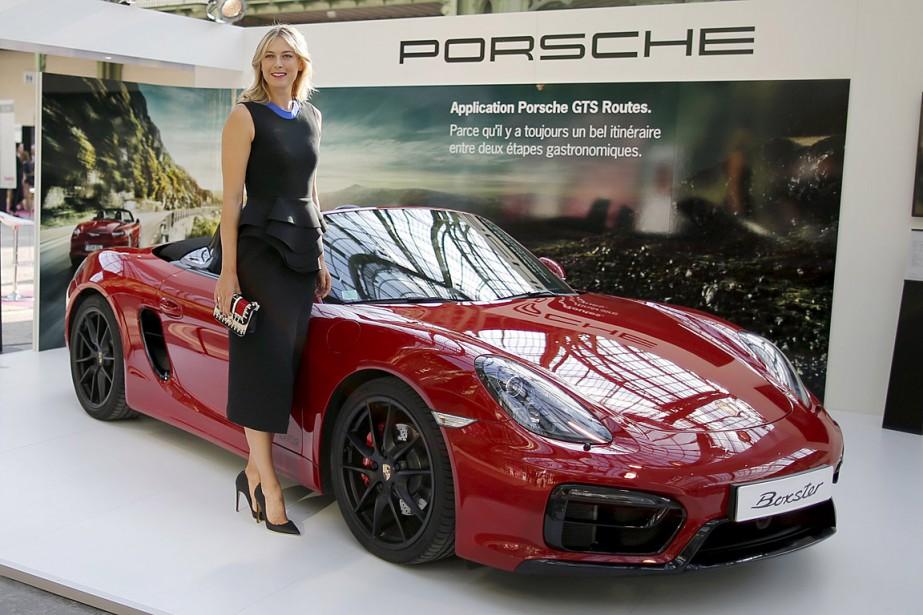 Maria Sharapova était ambassadrice de Porsche depuis 2013.... (Photo Charles Platiau, archives Reuters)