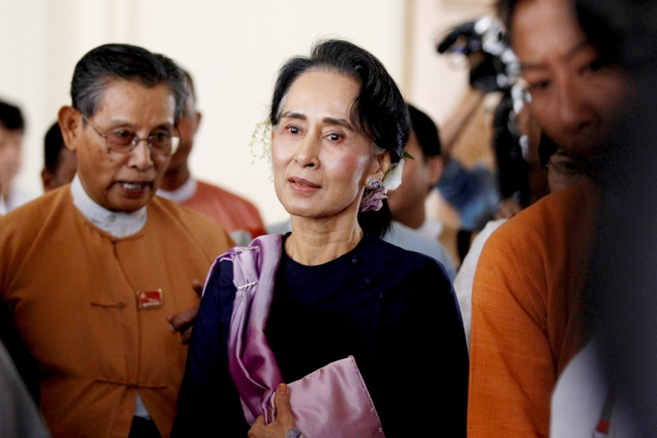 La prix Nobel de la paix ne peut... (PHOTO SOE ZEYA TUN, ARCHIVES REUTERS)