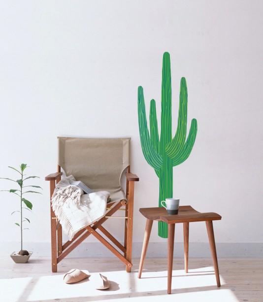 Le monde entier est un cactus for Autocollant dcoratif mural
