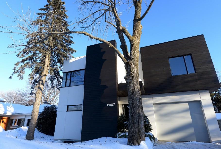 La maison a été finaliste aux Mérites d'architecture de la ville de Québec en 2012. (Le Soleil, Erick Labbé)