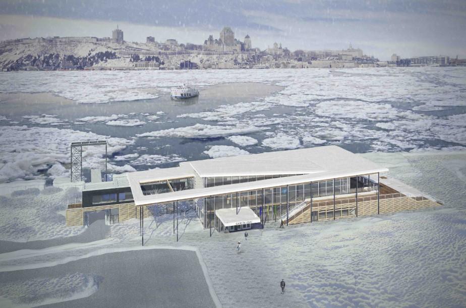 Cette perspective 3D de la gare montre bien la toiture évoquant les embâcles. (Image fournie par GLCRM et associés)