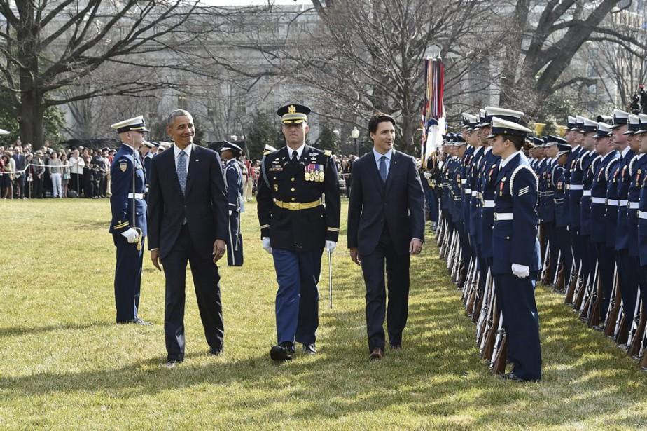 Ce soir, Barack Obama offrira un premier dîner d'État pour un premier ministre canadien en 19 ans. (Photo Nicholas Kamm, AFP)