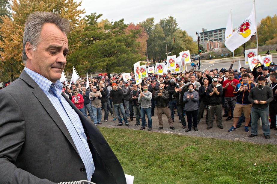 Le président de l'Association des pompiers de Montréal,... (PHOTO PATRICK SANFAÇON, ARCHIVES LA PRESSE)