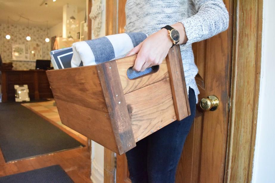 La caisse en bois est très polyvalente! (Caisserie Mc Neil)