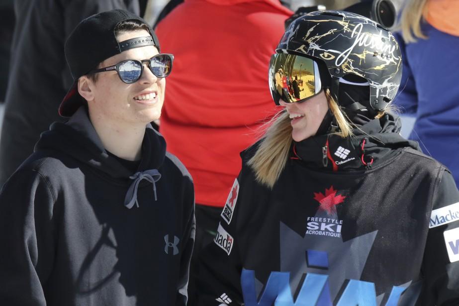Deux champions, Mikaël Kingsbury et Justine Dufour-Lapointe (Patrick Woodbury, LeDroit)