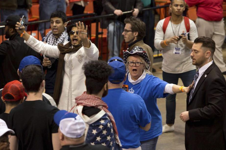 Donald Trump a annulé un rassemblement dans une... (PHOTO TASOS KATOPODIS, AFP)
