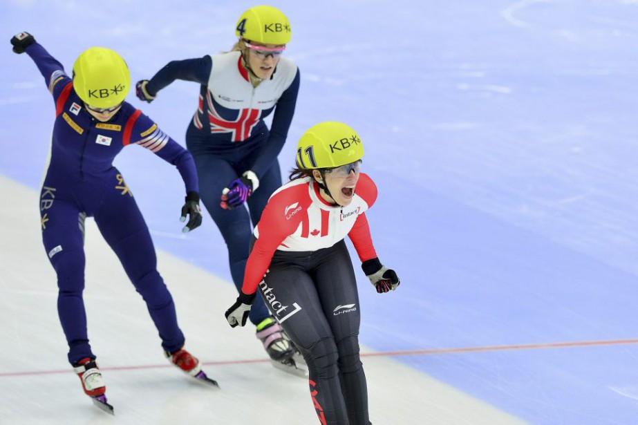 Marianne St-Gelais a remporté le titre mondial au... (PHOTO REUTERS)