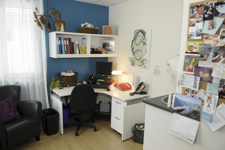 Les suivis de grossesse se font dans des bureaux personnalisés par chaque sage-femme. (Photo Le Quotidien, Mariane L. St-Gelais)