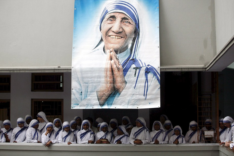 Béatifiée en 2003, la religieuse à la frêle... (Photo Jayanta Shaw, Reuters)