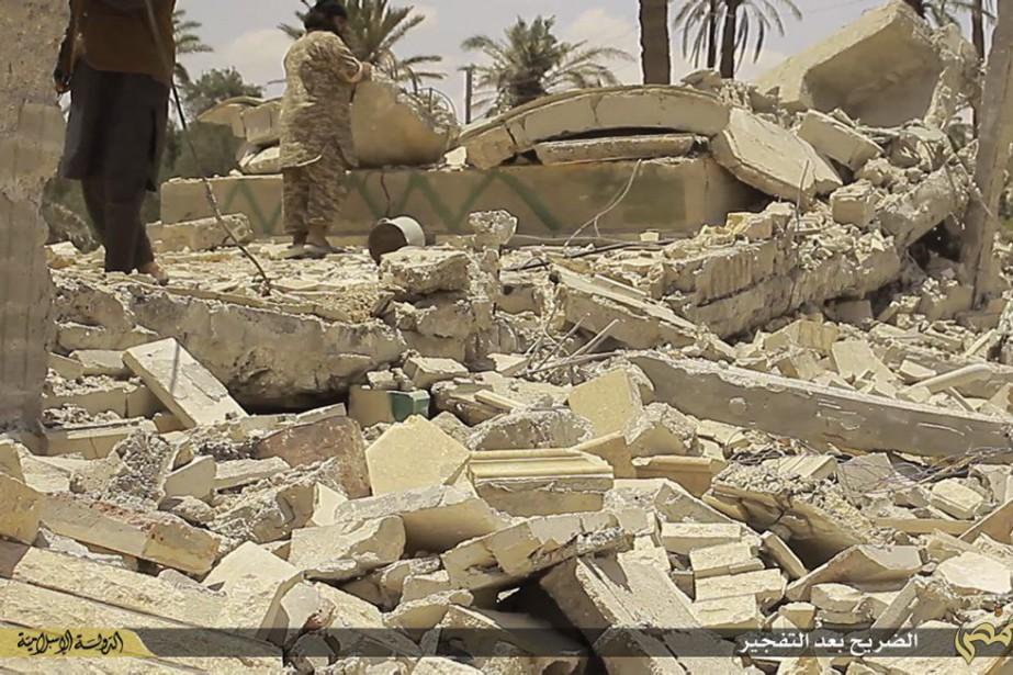 Si l'armée syrienne s'empare de Palmyre, joyau antique... (Photo tirée du site internet de l'EI / via AP)